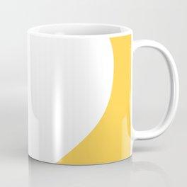 Heart (White & Light Orange) Coffee Mug