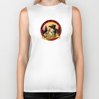 river song Biker Tanks featuring Where In Time and Space Is River Song? by mikaelak