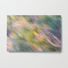 Colorful Wavy Abstract Metal Print