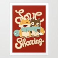 Love is Sharing Art Print