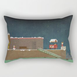 Harbor Scene Rectangular Pillow
