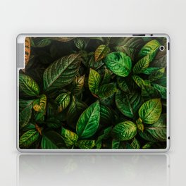 Golden Green Leaves Laptop & iPad Skin