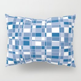 Mod Gingham - Blue Pillow Sham