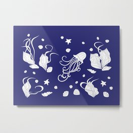 Deep sea life Metal Print
