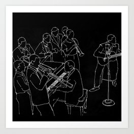 Duke Ellington jazz band Art Print