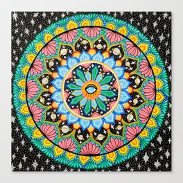 Eye am the Cosmos Mandala Canvas Print