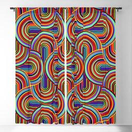 CRAZY CURVES 01, rainbow colored Blackout Curtain