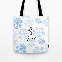 Let it Snow Snowflakes Tote Bag