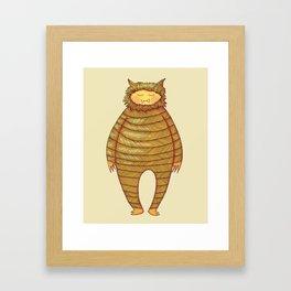 Fangs Monster Framed Art Print