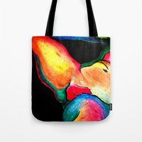 nudes Tote Bags featuring Nudes: Atlas III by Adam James David Anderson