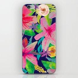 Neon Azeleas // Navy iPhone Skin