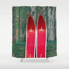 Vintage Skis - Fischer Alu Shower Curtain