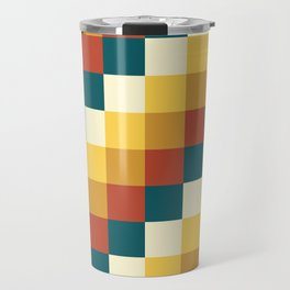 My Honey Pot - Pixel Pattern in yellow tint colors Travel Mug