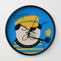 bonjour Wall Clocks featuring Bonjour by Farnell