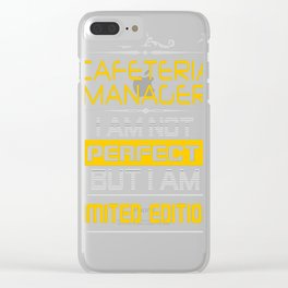 CAFETERIA-MANAGER Clear iPhone Case
