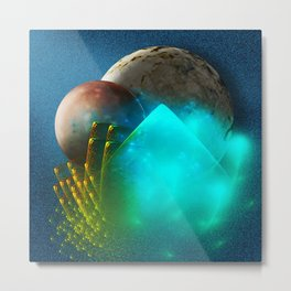 New worlds ripe for exploring Metal Print