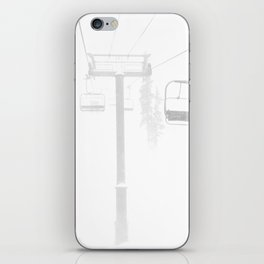 Mountain High // Riding the Chairlift Copper Mountain Colorado Foggy Snow Climb iPhone Skin