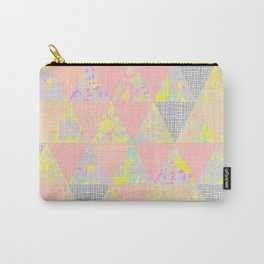 PASTEL NEON GEO FLORALS Carry-All Pouch
