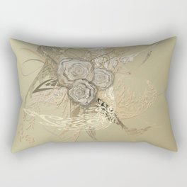 50 Shades of lace Gold Gold Rectangular Pillow