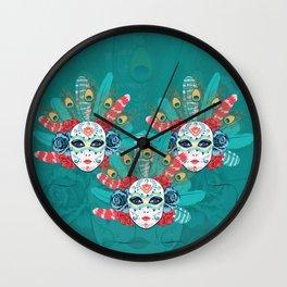 Masquerade face mask Wall Clock