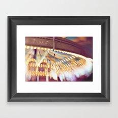 Pink Carousel Framed Art Print