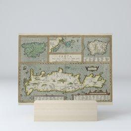 Vintage Map - Ortelius: Theatrum Orbis Terrarum (1606) - Crete, Corsica and Sardinia Mini Art Print