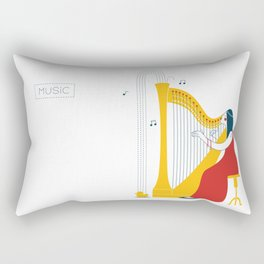 Woman harpist Rectangular Pillow