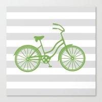 kermit Canvas Prints featuring kermit bike by Ann Gardner