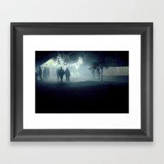 evening stroll Framed Art Print