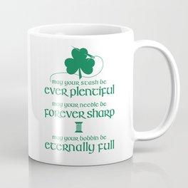 Fabricated Irish Sewing Blessing Coffee Mug