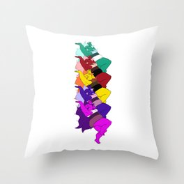 Amethyst Falling in a Cool Color Palette Throw Pillow