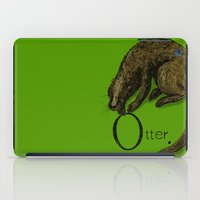 otter iPad Cases featuring Otter by zuzia turek