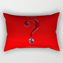 Big Questions -?- Earth by THE-LEMON-WATCH Rectangular Pillow