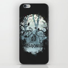 Dark Forest Skull iPhone Skin
