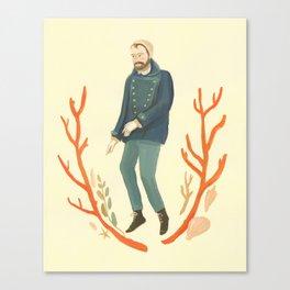 Coral Sailor Canvas Print