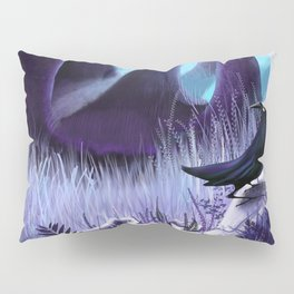 The Ostragon Woodlands Where Bright Ravens Watch Pillow Sham