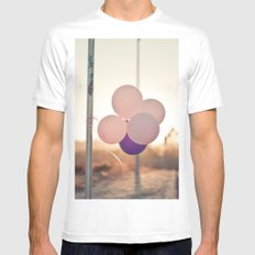 pink + purple White MEDIUM Mens Fitted Tee