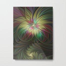 Flourish, Colorful Abstract Fractal Art Metal Print