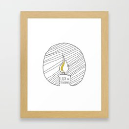 Lux In Tenebris (light in the dark) Framed Art Print