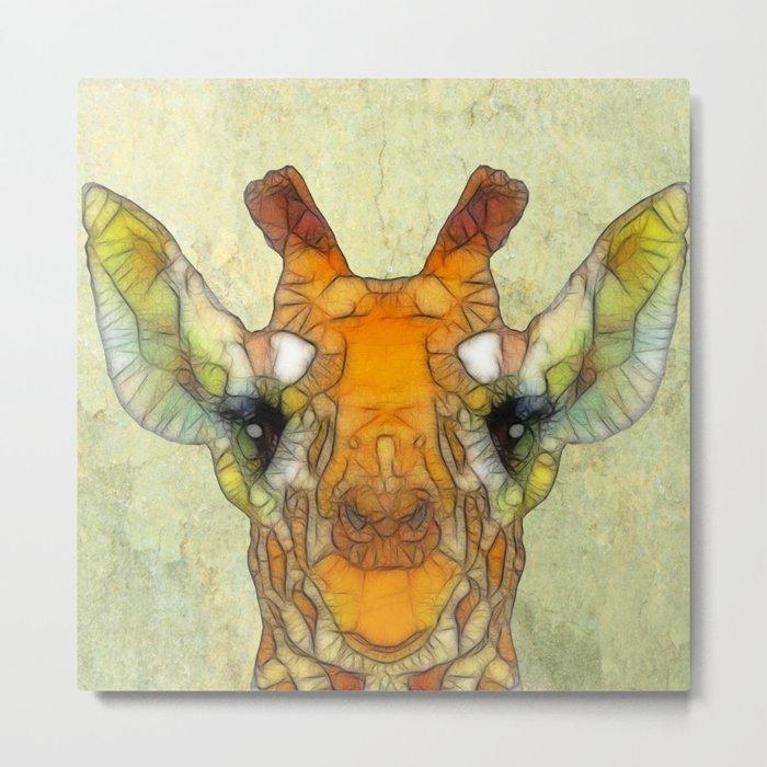 abstract giraffe calf Metal Print