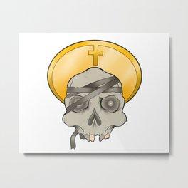Mummy skull Metal Print