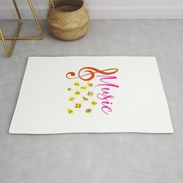 Treble Clef Music Rug