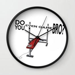 Do you Even Game Bro? Wall Clock