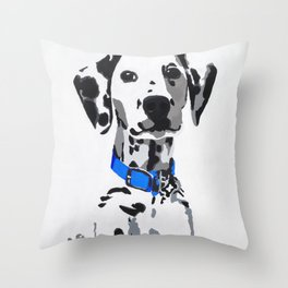 Winnie in blue Throw Pillow