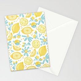 Lemon pattern White Stationery Cards