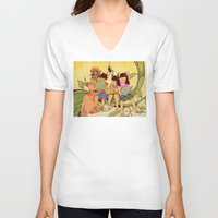 fairy tale V-neck T-shirts featuring Fairy Tale by Radical Ink by JP Valderrama