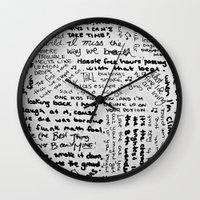 lyrics Wall Clocks featuring Song Lyrics by Fallon Chase