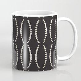 Beads in Black and White Coffee Mug