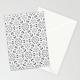 Kat Scratch • Black & White mosaic Stationery Cards