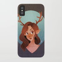 fawn iPhone & iPod Cases featuring Fawn by Lauren Florence